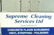 Supreme Cleaning Services Sign 2